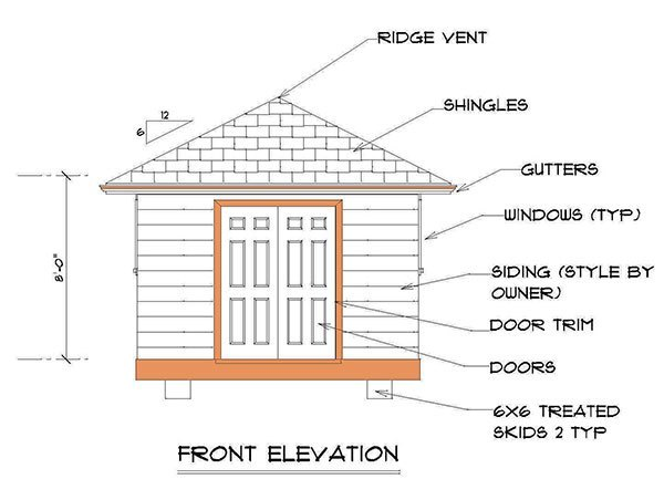 12 12 Hip Roof Shed Plans Blueprints For Crafting A Square
