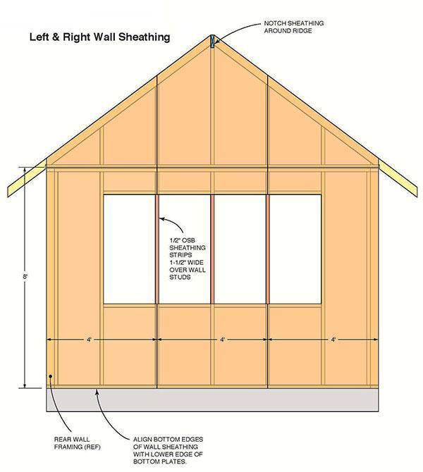 12 16 Storage Shed Plans Blueprints For Large Gable Shed With Dormer