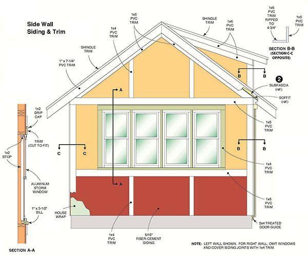 12 215 16 Storage Shed Plans Amp Blueprints For Large Gable Shed