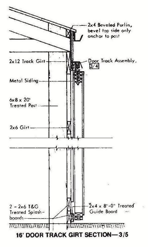 30 215 72 Pole Machine Shed Plans Amp Blueprints For Industrial