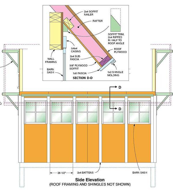 7 215 14 Gable Shed Plans Amp Blueprints For Making A Large Storage Shed