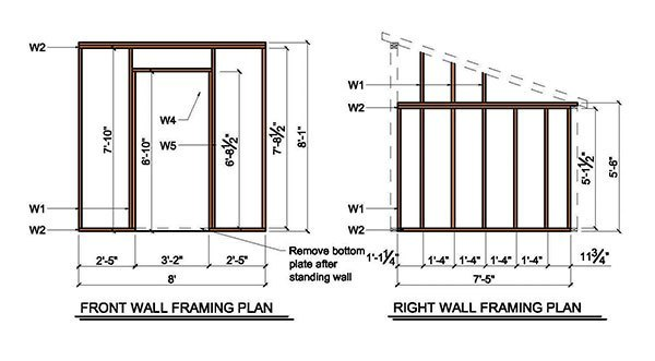 8 215 8 Lean To Shed Plans Amp Blueprints For Garden Shed